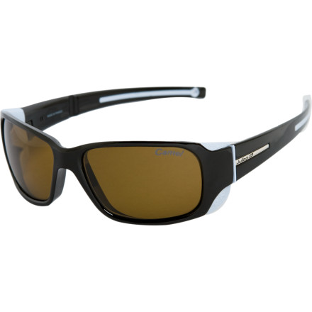 Camp and Hike The Julbo Monterosa Sunglasses combine fashion and function when you're on the highest peaks and brightest locations on earth. The Camel Antifog Polarized/Photochromic Lens provides excellent eye protection without limiting your vision. - $159.95