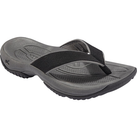 Surf Warm summer days, backyard cookouts, and road trips to the beach all call for the KEEN Men's Kona Flip-Flop. The metatomical EVA molded footbed provides the KEEN fit and feel that you love, and an Aegis Microbe treatment keeps your foot smelling sweet as roses. - $49.95