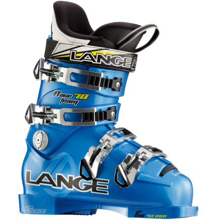 Ski Lange swiped a touch of technology from its race boots and plenty of comfort from its freestyle line to create the Kids' RS 70 Team Ski Boot. Thanks to an anatomically-shaped liner that leaves room in the toes and instep, this is one boot your kid won't complain about. A snug heel pocket holds his or her foot tightly so there's no slopping around. Lange even lowered the cuff height so your shredder can experience a wider range of motion while tearing up the mountain. - $157.48