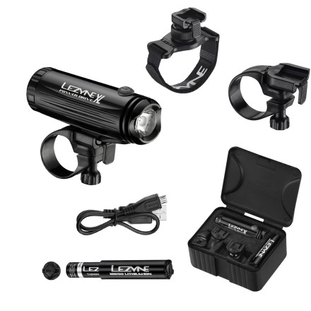 Fitness Perhaps your night riding needs don't require a steady stream of 1000 lumens. In fact, for most of us, 400 lumens is more than enough to get the job done. After all, police issue flashlights only illuminate around 220 lumens. This is where the Lezyne Power Drive XL Loaded Front Light comes in. Sure, Lezyne makes 1000 lumen lights like the Mega Drive, but those lights feature much of the same functionality, only with a higher output that's not as suitable for the road as it is for the trail. So, if you need a light that's as versatile on the trail as it is for commuting, the Power Drive XL answers the call. The most obvious difference between the Power Drive XL and other lights is the CNC-machined aluminum body. In the event that you take a spill (not hard to do on a trail at night), the Power Drive can handle it. The machined aluminum body also dissipates heat, which has a tendency to damage Li-ion batteries over time. And for the sake of being real, it also looks really good. You might downplay the importance of style, but let's face it, you don't want to hang some cheap, plastic gumball-machine headlight on your carbon race machine. The Power Drive now has a redesigned power button that increases the headlight's water- and weather-resistance. How' Well, the new power button hides the Green and Red LEDs that allow you to monitor battery level without losing a pedal stroke. When the headlight is on, the indicator (located on top of the light housing) will be either Green, Red, or flashing Red to indicate power level. Lezyne's Infinite Light feature is another innovation that adds versatility and usability for endurance riders, 24-hour racers, or anyone planning to out-ride the battery's burn time. But, if you burn out your battery, just pop it out and slide in a fully-charged Li-ion. It sounds simple, but it's a rare feature among trail lights. - $78.00