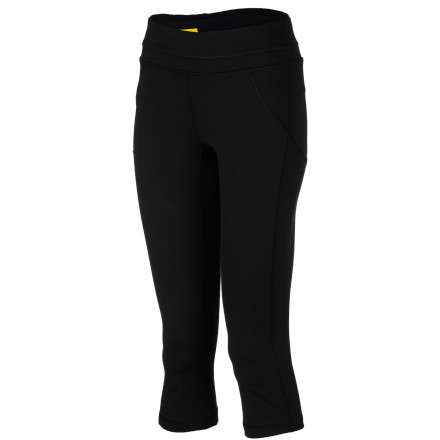 Fitness Slip on the hip-hugging LolA Women's Lively Capri Tight, plug in your headphones, and start with an easy warm-up stride at the trail head. - $89.95
