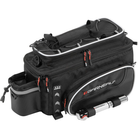 Fitness Using your bike for transportation becomes much easier when you've got room for necessary gear. This includes essentials like flat repair, clothing, and security. All that adds up quickly and the last place you want it is hanging off your back. Where you do want it is in the Louis Garneau Transpo R-12 Panniers. The Louis Garneau Transpo R-12 Panniers are designed to make your life simpler. Its storage solution gives you a place to haul essentials, and a shoulder strap along with easy removal and installation allows you to take the Transpo anywhere. An adjustable outer flap with buckles gives you a place to fasten your helmet when not riding, and also allows bulky items to be attached to the Transpo. It is constructed from aluminum and 200D polyester for durability, and the main compartment is insulated so items stay warm or cool depending on the situation. For extra storage, there's a multi pocket that keeps tools, keys, and electronics from banging into each other, and a mini pump can be strapped to the side via hook-and-loop fasteners. For low light safety, there is plenty of reflective piping and a tab for installing a rear light. Louis Garneau recommends its Transpo Light rear rack, but most racks will work. The Transpo R-12 Pannier measures 9 x 6 x 12 1/2 inches. - $59.95