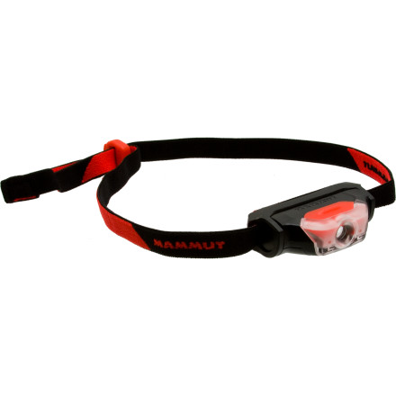 Climbing The S-Flex Headlamp combines high intensity with low weight for an overall high-value package. An LED bulb offers two levels of beam intensity, a continuous red light and a flashing red light, all powered by a single  battery. - $29.95