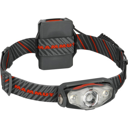 Climbing When your trip to the summit starts just after midnight, trust the Mammut X-Shot Headlamp to illuminate each step of the way. A combination of floodlight and spotlight LED bulbs and multiple brightness settings allows you to perfectly adapt the lighting for every situation. Watertight construction means a thunder shower won't leave you stranded in the dark, and the alpine emergency signal can help you get out of a sticky situation. - $89.95