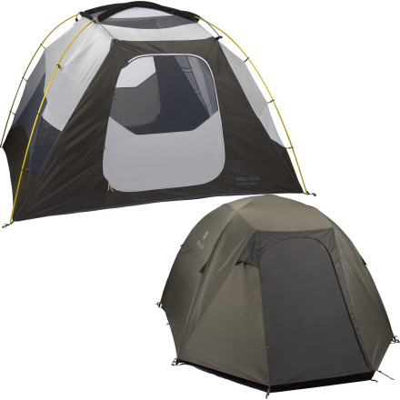 Camp and Hike The whole crew can enjoy a weekend in the Marmot Limestone 6-Person Tent. When you're gathering the family for a fun overnight camping trip, grab some extra headlamps and a deck of cards because the kids may not want to leave this durable and portable home for the outdoors once the storm rolls in. - $448.95