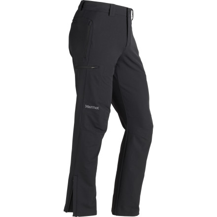 Ski Beyond the city lies a wilderness full of mountains, trails, deserts, and rivers. Marmot made the Men's Scree Softshell pant with breathable and water-repellent material so you can leave the skyscrapers behind and enjoy the journey. Just as comfortable as your favorite jeans and far more versatile, this pant prepares you for hiking, bushwhacking, paddling, climbing and more... finally, you only have to pack one pair of pants. - $109.95