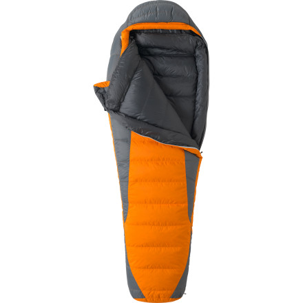 Camp and Hike The Marmot Never Summer 0-Degree Down Sleeping Bag gives you a warm night's rest when the mercury dips, and you're set on playing outside. While the Never Summer has heavy-duty chill-blocking power, the down fill and nylon ripstop keep it compressible and light enough to haul on a multi-day trek. - $278.95