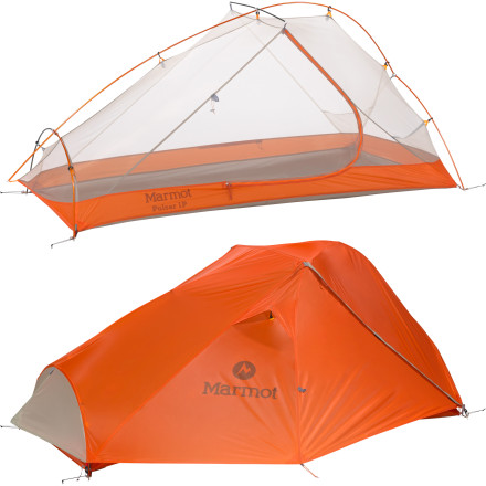 Camp and Hike As you finish the last few miles of your day's hike, you can't help but look forward to good night's rest in your Marmot Pulsar 1-Person 3-Season Tent. The smart design of this compact shelter gives you space to stretch out, and the easy set-up means you won't be stressed and swearing to yourself when you should be sitting down to a pre-bedtime meal. - $268.95