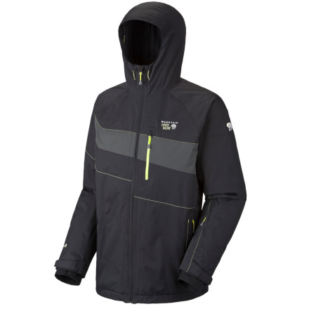 Ski The Mountain Hardwear Kryos Jacket combines weather-beating materials and synthetic insulation to make sure that you are comfortable even in heavy-hitting precipitation and freezing temps. You'll be ready for backcountry skiing in all kinds of weather and conditions. - $109.98