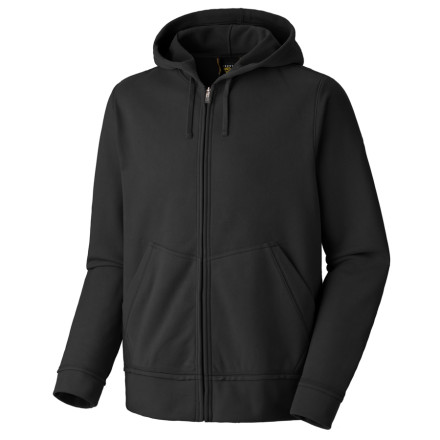 Zip up the Buttaman Hooded Sweatshirt from Mountain Hardwear after a deep pow day. The full coverage hood keeps your head and ears from getting chilled, and two front zip pockets are ideal for warming up your digits while you wait for the fire to heat up the cabin. - $47.98