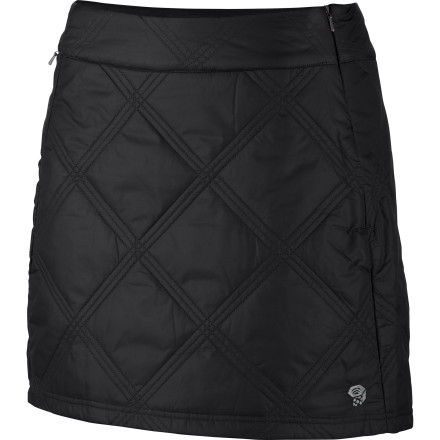 Whether you plan on traveling around Europe or taking a leisurely stroll around town, put on the Mountain Hardwear Women's Trekkin Insulated Skirt. This skirt has light insulation for chilly days and a DWR finish to combat drizzle and flurries. - $69.97