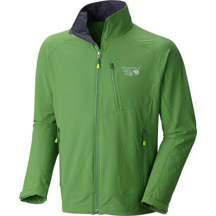 This weekend's weather looks like it may be dicey, but your lightweight and versatile Mountain Hardwear Men's Onata Softshell Jacket ensures outdoor play. This softshell stretches with your every move, whether on the wall or boulder-filled trail, and breathes to prevent clamminess under the shell. Its DWR finish prevents light rain and snow from soaking through, so you can withstand a fleeting sun shower. - $109.95