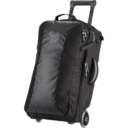 Entertainment Save yourself the hassle and cost of checking baggage by packing the carry-on approved Mountain Hardwear Juggernaut 45 Rolling Gear Bag. The smooth urethane skate wheels allow you to cruise the terminal without hindrance, and the easy-access front pocket is ideal for keeping your laptop and tablet close at hand. - $289.95