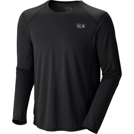 At just five ounces, the Mountain Hardwear Men's Wicked Lite Long-Sleeve T-Shirt is an ideal choice for high-energy pursuits that cause sweat to fall like rain. The soft fabric dries quickly and wicks away moisture to keep you comfortable while the flatlock seams ensure you'll stay chafe-free on even the most grueling trail runs. - $39.95