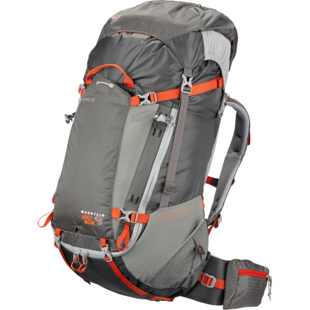 Camp and Hike Designed with the ultralight backpacking crowd in mind, the Mountain Hardwear Shaka 55 Backpack is ideal for everything from quick overnight getaways to minimalist multi-day treks. The HardWave suspension and aluminum perimeter stay are designed to match the shape of your back and waist for excellent load transfer and improved mobility on technical sections of trail. Even better, this feature-rich pack weighs in at just four pounds. - $259.95
