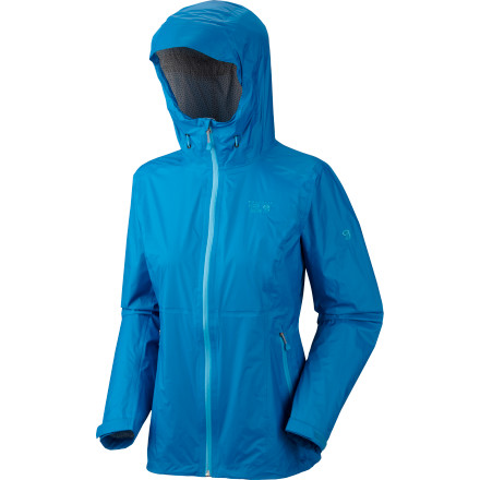Fitness The lean, mean Mountain Hardwear Women's Capacitor Jacket features weather-fighting power via 2.5 layers of advanced waterproof, breathable Dry.Q Evap, fully taped seams, and an adjustable hood. The revolutionary Dry.Q Evap accelerates evaporation for optimal breathability and comfort in wet weather. so you can push the limits as hard as you want without feeling swampy. - $229.95