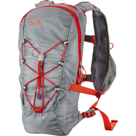 MTB Ditch the bouncing waist pack for the Mountain Hardwear Fluid Race Backpack. The Fluid carries the gear, fuel, and fluids you need for a long haul on the trail or pavement, and the vest-style shoulder straps and On-The-Fly compression system ensure a glove-like fit. - $74.95