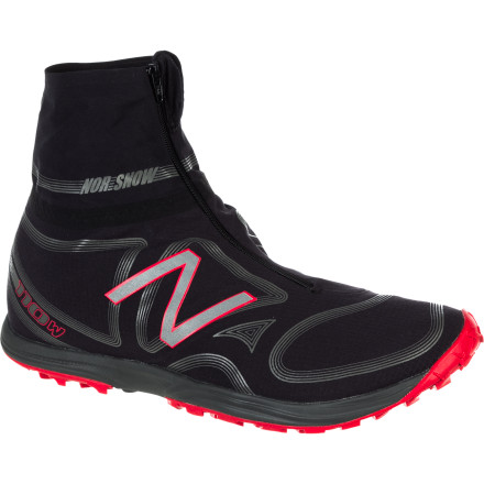 Fitness Built light and designed to feel low, the New Balance Men's MT110 Winter Trail Running Shoe extends your quest for singletrack mileage deep into the recesses of the colder months. Compared to traditional designs, the upper is much taller and it offers the protection of a water-resistant coating that keeps your ankles, foot, and toes dry. An aggressive outsole pattern digs into the slush on the road and the slippery snow well beyond the gate at the trailhead. For runners who prefer their heels and toes to feel more aligned, New Balance's engineers gave this shoe a low, 4mm heel-toe-offset to promote a more natural foot strike. This lightweight racer is built for the fourth season of the month, the one that would otherwise leave you stuck on a treadmill. - $99.96