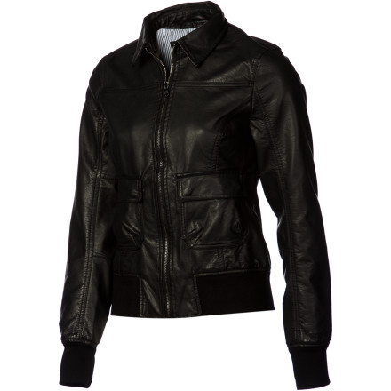 Auto and Cycle You move to the beat of your own drum, which is why you skipped the jumping on the back of your boyfriend's motorcycle part and just got your own hog instead. Now you just need the Nixon Rider Women's Jacket to go with it. - $99.95