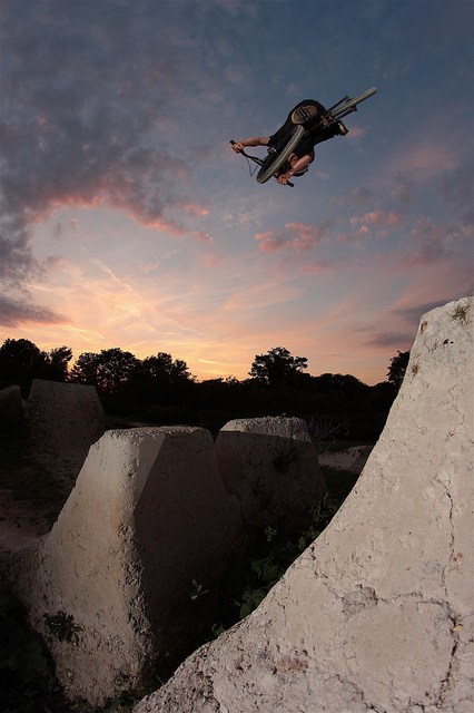 BMX Cams boosted twist at Woodyard, Melbourn.