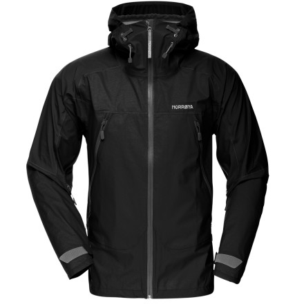 Outfitted with highly-breathable and waterproof Dri3 fabric, the Men's Falketind Dri3 Jacket takes its place as Norrna's lightest rain shell jacket. Durable and lightweight fabric makes this jacket highly packable so it's easy to slide into your pack, and the short, form-fit cut means you can move with freedom in the mountains. Batten down the wrist closures, tuck your chin in behind the medium-height collar, and charge into the elements. - $361.90
