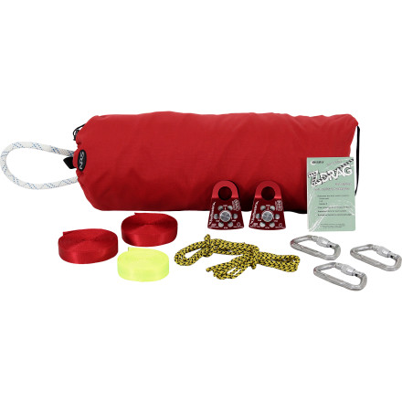 Kayak and Canoe Whether you find yourself in a situation where the gear boat flips or you just want to always err on the safe side, prepare yourself for the unexpected with the NRS Z-Drag Kit. This kit provides all the hardware needed to set up basic mechanical advantage systems and helps aid in swiftwater rescue. - $289.95