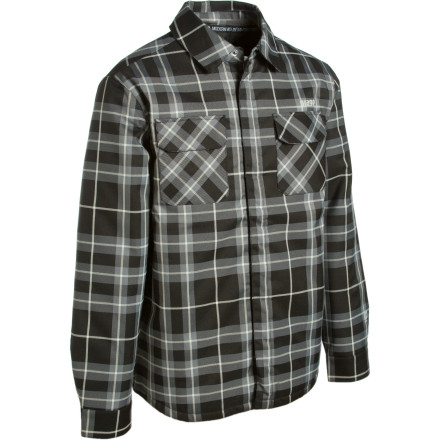 You know you belong in the woods with shacks and guerrilla jibs, and the water-resistant, insulated Orage Duncan Flannel Shirt Jacket helps you look the part while log jamming. Not just a measly flannel, this shirt jacket features Orage's two-layer Prime 5 fabric and synthetic insulation to keep the cold and wet from disturbing your domination of Shredwood Forest. - $59.98