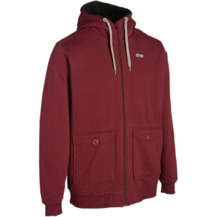 Sure, the outside of the Orage Flee Full-Zip Hoody looks like a classic sweatshirt with a dash of extra pizazz in in the pockets. But on the inside, high-pile fleece warms your bones and feels buttery smooth against your skin. - $39.98
