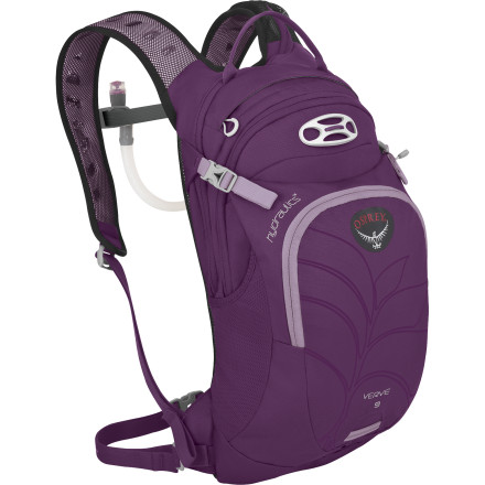 Fitness From aspen-lined singletrack to heart-pounding trail runs, you'll love the female-specific fit and convenient thirst quenching afforded by the Osprey Women's Verve 9 Hydration Pack. The included three-liter Hydraulics Reservoir is shaped to match the contour of the AirScape back panel for better balance and pack fit, the magnetic bite valve pairs with the magnetic sternum buckle to keep the hose secure when you're bouncing down the trail, and the pack holds a snack and an extra layer when you just need room for a few small items. - $98.95