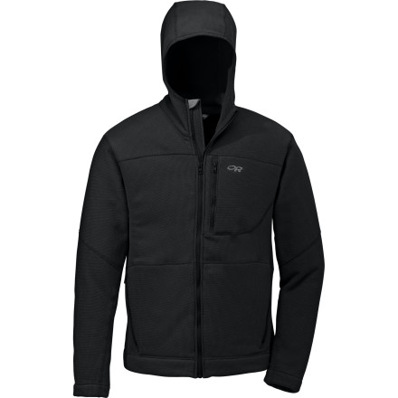 Camp and Hike If your heaven is a four-season frenzy of skiing, climbing, camping, hiking, and whatever else you could possibly do outdoors, then you likely love a good hooded sweatshirt. The Outdoor Research Men's Haven Full-Zip Hoodie offers warmth as a layer in winter, all-day comfort on a crisp fall day, and evening chill-fighting cover around the campfire in summer. - $47.98