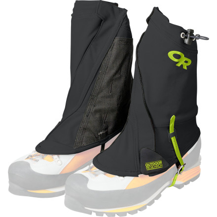 Climbing Outdoor Research designed Endurance Gaiters to move with you so you can conquer the steeps without having to dig rocks, sticks, and scree out of your boots every few feet. The stretchy uppers are made with elastane for a natural-feel that moves with your body without binding or pinching. - $68.95