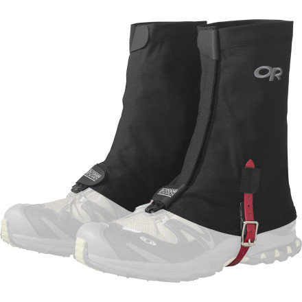 Climbing Having anything other than your sock and your foot in your shoe can be a bummer, especially if you're moving fast in the backcountry. Outdoor Research Flex-Tex gaiters are there to keep any visitors from paying an unwelcome visit while you're trying to crank out some mileage in a hurry. - $42.45