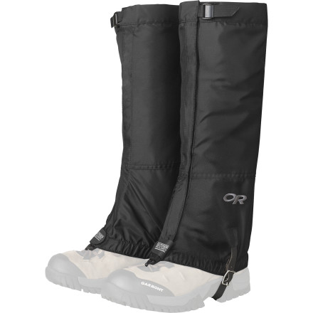Climbing Keep snow, mud, and other trail debris out of your boots with the Outdoor Research Rocky Mountain High Packcloth Gaiter. The Rocky Mountain High is a basic design that gets the job done without any unnecessary frillsjust tough, breathable fabric securely attached to your boots. - $39.95