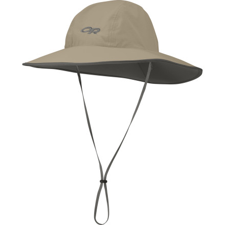 When the sun is high overhead and not a sliver of shade exists on the landscape, trust the Outdoor Research Aquifer Sombrero to keep you cool, comfortable, and protected from the sun. The Supplex nylon headband wicks away sweat, and a UPF 50+ rating prevents your scalp, face, and neck from frying like an egg. - $37.95