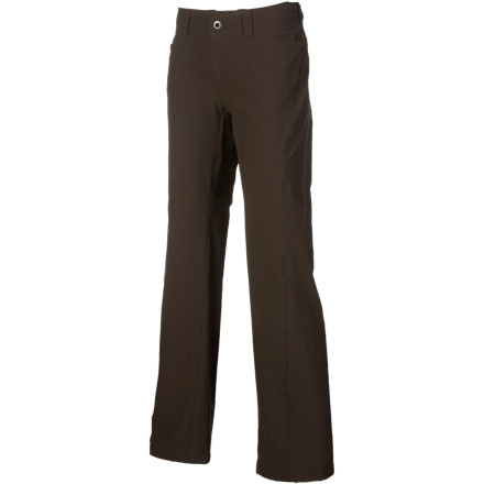 Climbing For crisp fall days in the valley or breezy summer alpine routes, the Patagonia Womens Rock Guide Pants light, stretch-woven fabric provides just enough protection with plenty of comfort. The pants articulated knees and gusseted crotch let you move freely through offwidths and stemming corners, while the roll-up cuffs stay put during footwork-intensive face climbs. Patagonia also included plenty of pockets for your lip balm, tape, and topo map. - $47.40