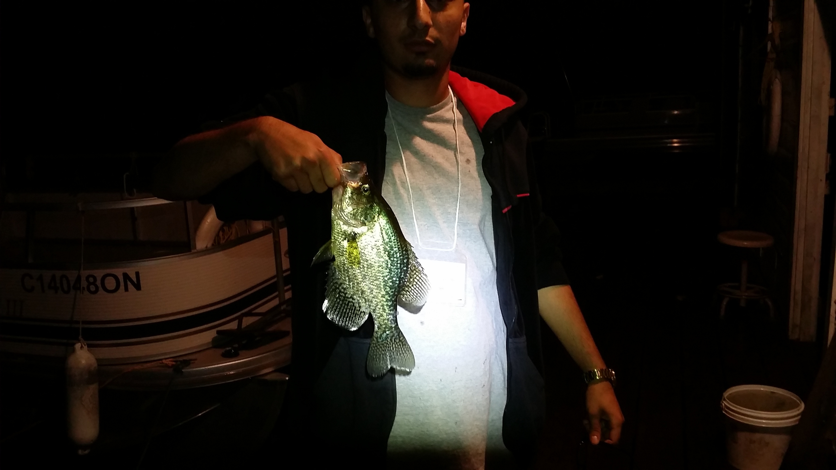 Late night crappie fishing thrill on for Crappie fishing at night