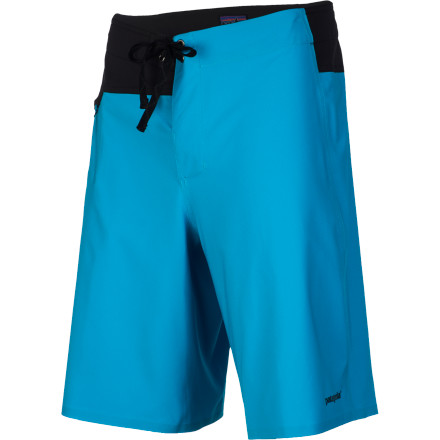 Surf A trim silhouette and super-light, quick-drying construction make the Patagonia Men's Stretch Houdini Board Short a lean, mean, and mobile machine. A long boardie with a 21-inch outseam provides stylie coverage but also tons of low-crouching, hard-carving movement. A self-draining, mesh-lined pocket holds your beer and taco money. - $119.00
