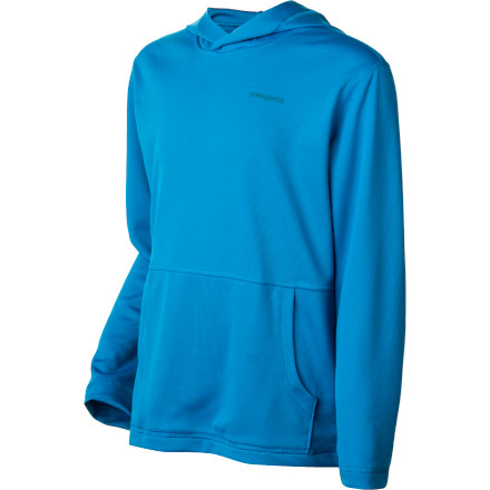 Surf When your up and coming ripper takes a break from the surf, have him pull on the Patagonia Boys' Sunshade Hoodie. The breathable polyester double-knit mesh provides protection from the sun and wind while the flat seam construction ensures chafe-free comfort. - $49.00