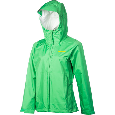 Camp and Hike Extremely packable and lightweight, the Patagonia Women's Torrentshell Jacket comes in super-handy when afternoon showers interrupt clear skies on your summer hikes or fall backpacking trips. Equipped with a waterproof breathable barrier, this stowable jacket has its own self-stuff pocket for easy convenience while you travel, hike, or backpack. - $129.00