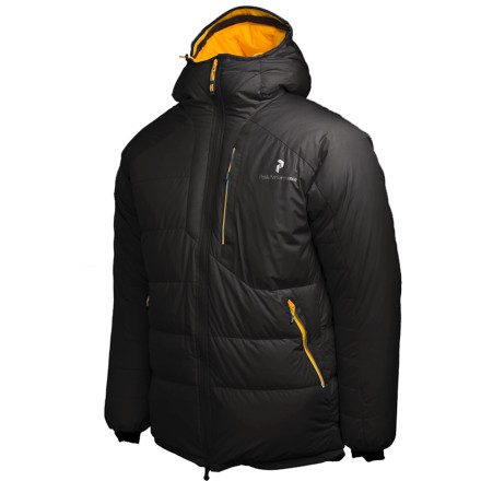 Ski Down or synthetic: Most puffy mountaineering jackets tend to fall into one of these two categories. But Peak Performances built its BL Down Jacket with an innovative blend of natural and synthetic fibers to give you the best of both worlds. By combining these two insulating materials, Peak Performance has created a super-warm jacket thats not only very light, but thanks to its water-resistant WindStopper shell fabric, it's also highly resilient in the face of extreme mountain conditions. - $279.98