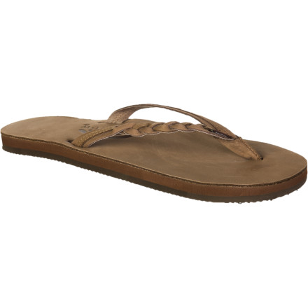 Surf The Rainbow Women's Flirty Braidy Sandals give you the luxurious comfort that is synonymous with the Rainbow name and add a feminine, fashionable sense of style to your summer outfits. These flip-flops are great for shopping the boardwalk and grabbing lunchtime mojitos with friends. - $49.95