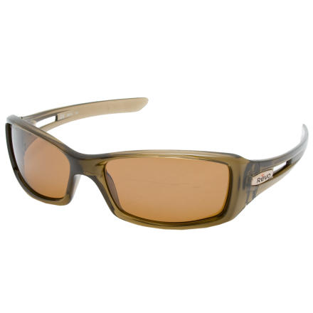 Camp and Hike The Element Shed coating on the Revo Red Point Sunglasses polarized lenses helps prevent smudges whether your fingers are sweaty and chalky from working your project or mud-caked from a trail ride. Plus Revo made these frames 100% recycled polymer resin. - $160.61