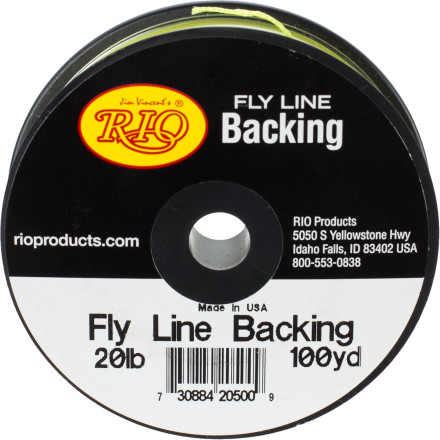 Flyfishing Whether a monster of a fish just took you for a ride and snapped your backing or your backing has seen better days, use the RIO Fly Line Backing - Dacron as a replacement. - $6.97