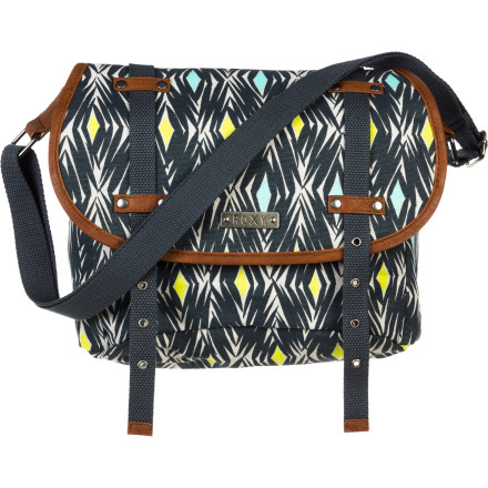 Surf Add some spark to your person by pulling the Roxy Women's Firefly Purse over your head and across your body. Bold patterns on cotton canvas, faux leather trim, and an adjustable webbing strap give you a sporty, fun look while you carry your gear to and from the park or pub. - $32.30