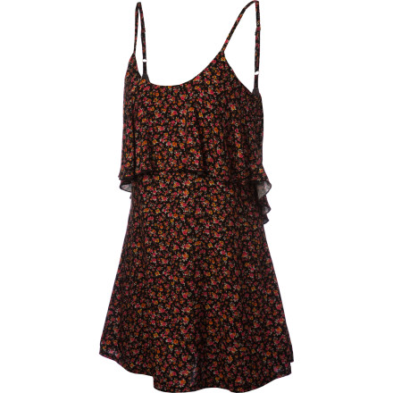 Surf Slide the Roxy Women's Floral Splash Dress over your swimsuit when you want to check out the boardwalk shops or just need to seek refuge from the sun. - $37.80