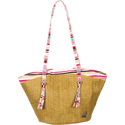 Surf Stash your ballet or jazz shoes, dance clothes, and water bottle in the Roxy Girls' Straw Me In Purse. This cute tote-style bag offers plenty of room for your dance or beach gear so you're not lugging around fifty smaller bags. - $28.90
