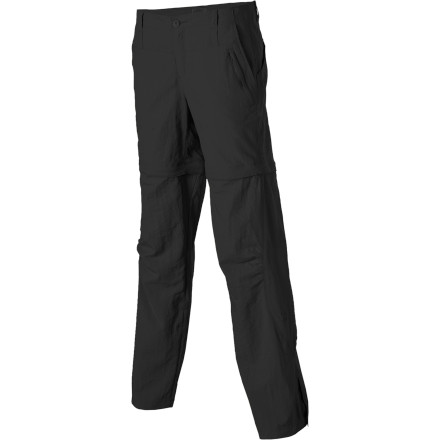 Camp and Hike Royal Robbins knows the weather can change not only day-to-day but hour-to-hour on the trail, which is why you get several different ways to wear the Women's Cabo Convertible Pant. As a chilly morning warms up, roll up the cuffs and secure them to create capris; when the sun really starts to beat down, zip off the pant legs to enjoy the cool comfort of a short. - $29.98