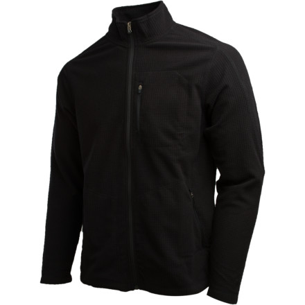 Entertainment Pull the Royal Robbins Textured Fleece Full-Zip Sweater out of your pack when the temps start to dip. Quick drying, thick-textured polyester fleece feels warm when you wear this sweater on its own or as part of your layering system. - $31.98