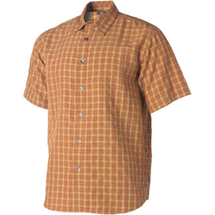 Entertainment Hop on that beach cruiser you keep out back and let your Royal Robbins Men's Piru Plaid Shirt flap in the summer breeze. All synthetic fabric lets cool air pass through to help you stay cool, and this shirt dries quick after you ride through the spray from the neighbor's sprinklers. - $28.98