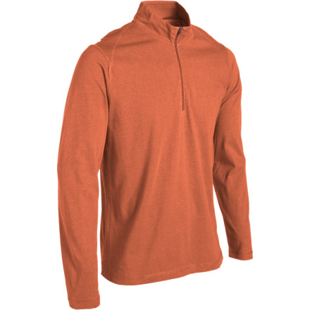 Camp and Hike There's a hint of winter in the air, but that shouldn't disrupt your plans for an afternoon hike. When you wear the Royal Robbins Pueblo Quarter-Zip Long-Sleeve T-Shirt, it won't have to. Enzyme-washed cotton keeps you comfortable, while a partial-zip front allows you to control your body temp whether you're just starting off into the cool night air or building up some heat on the descent. - $21.98